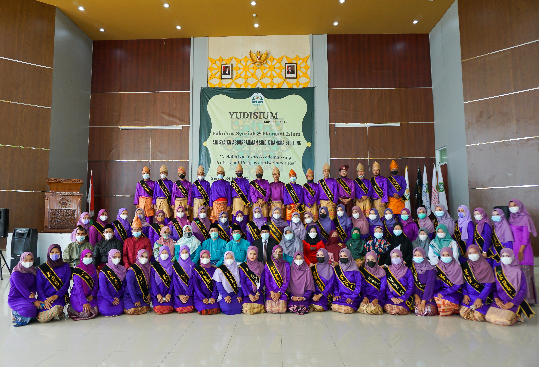 61 Mahasiswa Fakultas Syariah dan Ekonomi Islam IAIN SAS Babel Ikuti Yudisium Angkatan IV