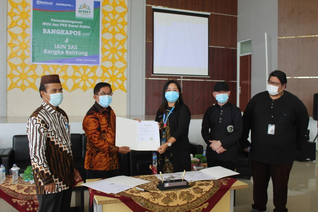 IAIN SAS Bangka Belitung Jalin Kerjasama dengan Bangka Pos Group