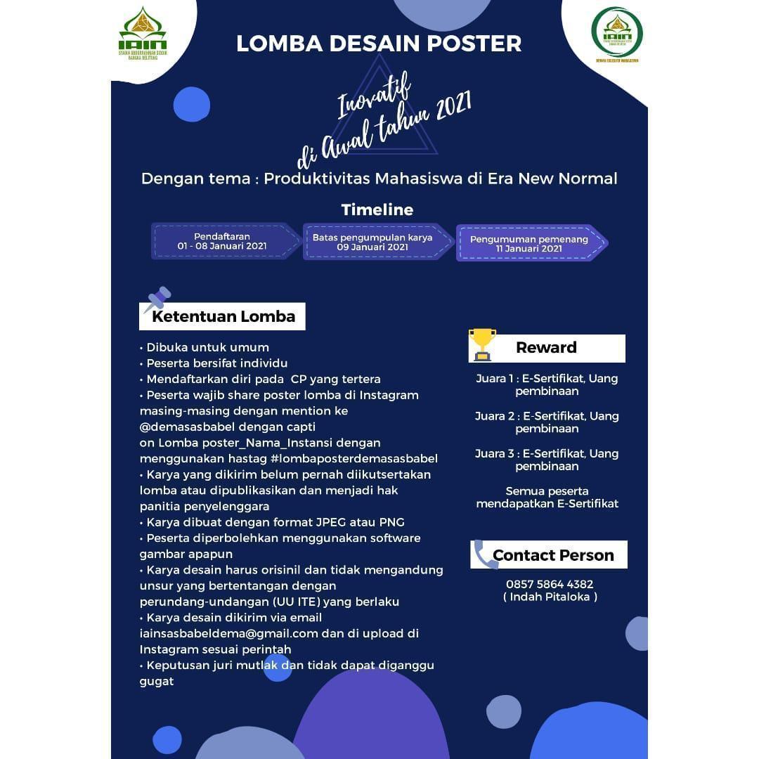 Lomba Desain Poster Kementerian Komunikasi & Informasi DEMA IAIN SAS BABEL 2020