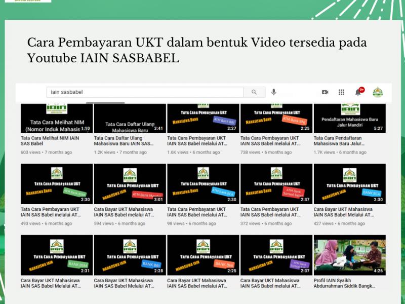 Cara Pembayaran UKT dalam bentuk Video