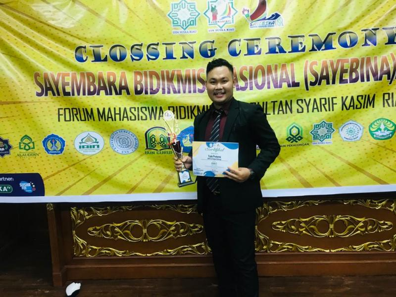 Yuda Pratama, Juara II Pidato Nasional di Sayebina UIN Suska Riau