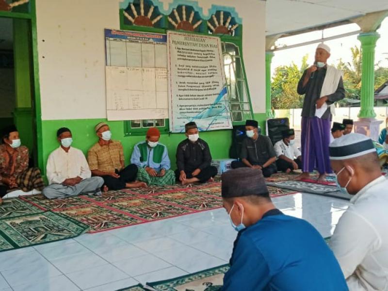 Sambutan dari Ketua Masjid Al Muhajirin II