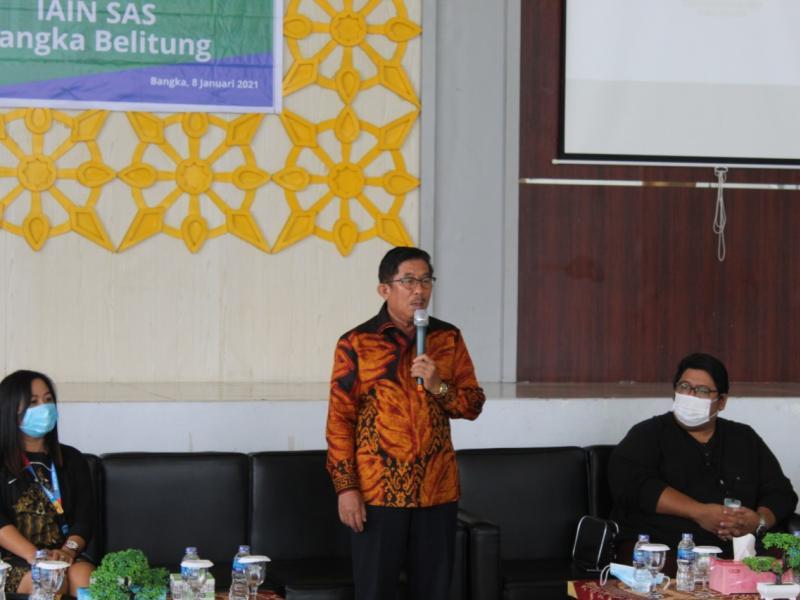 Sambutan Rektor Dr.Zayadi,M.Ag pada Penandatanganan MoU dengan  PT Bangka Media Grafika (Bangka Pos Group)