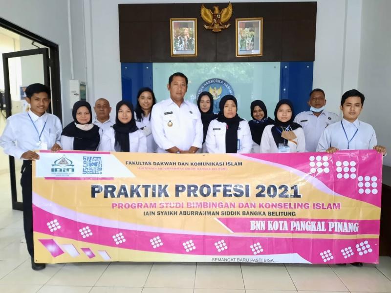 Foto Bersama Mahasiswa PPL FDKI dengan Pegawai di BNN Kota Pangkalpinang