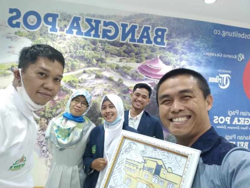 Foto Bersama DPL dan Mahasiswa PPL FDKI dengan Pegawai di Bangka Pos