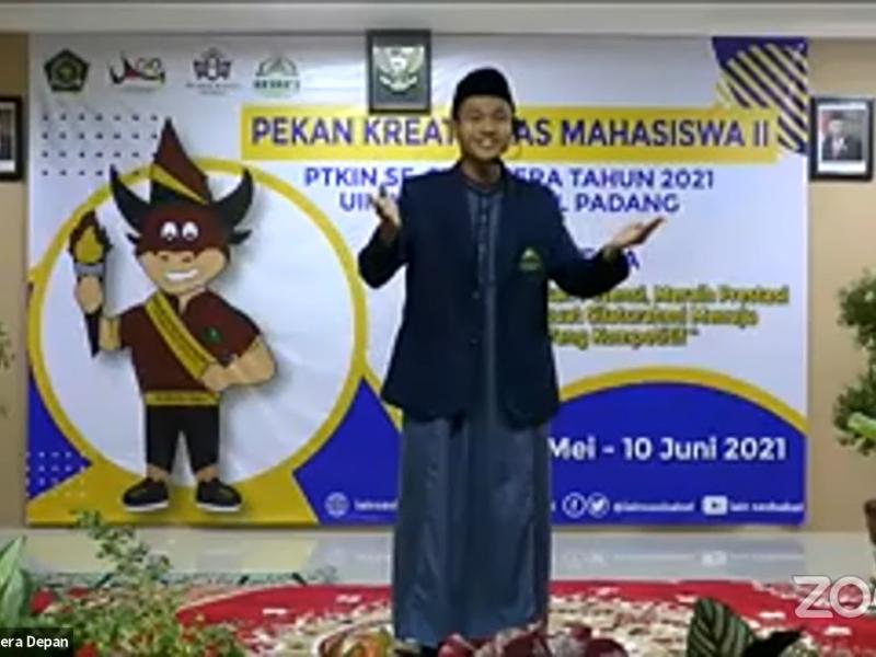 Naufal Lisanul Haq saat tampil pada cabang Pemilihan Dai Mahasiswa (Pildama) Putra