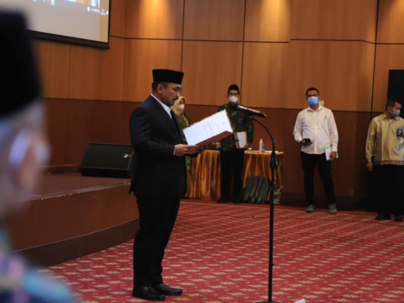 Menteri Agama saat mengambil Sumpah