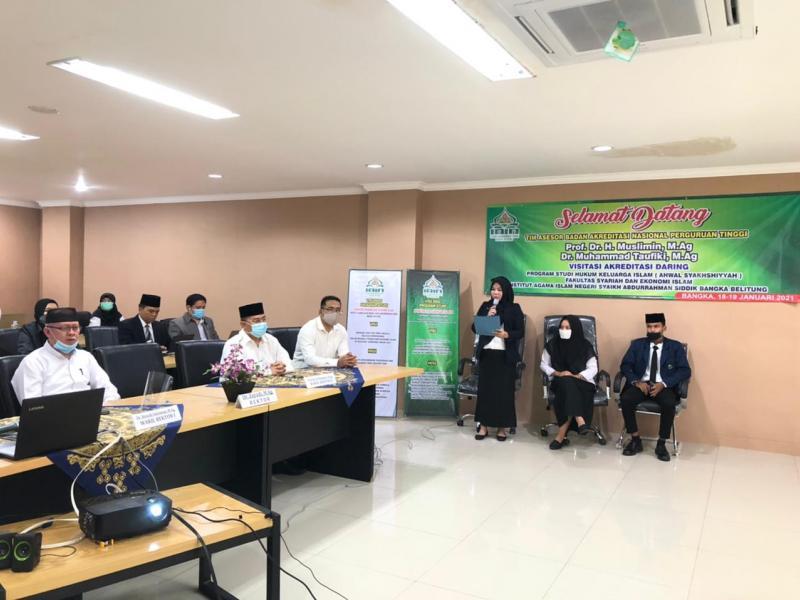 Pembukaan acara Visitasi Akreditasi Daring Prodi Hukum Keluarga Islam