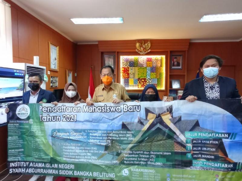 Foto bersama Mahasiswa IAIN SAS Babel bersama wakil Bupati Belitung