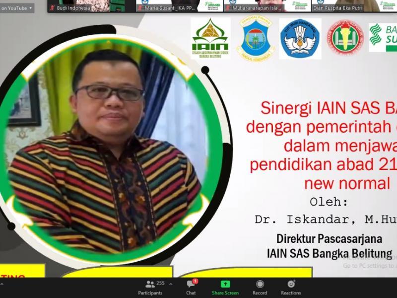 Dr. H. Iskandar, M.Hum (Direktur Pascasarjana IAIN SAS Babel)