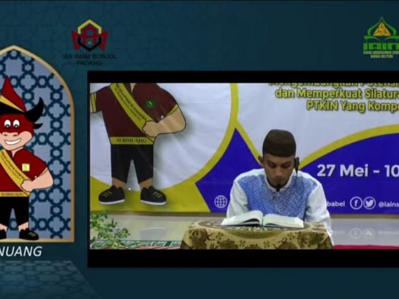 Muhammad Zaini saat tampil pada cabang Musabaqoh Hifzil Qur'an