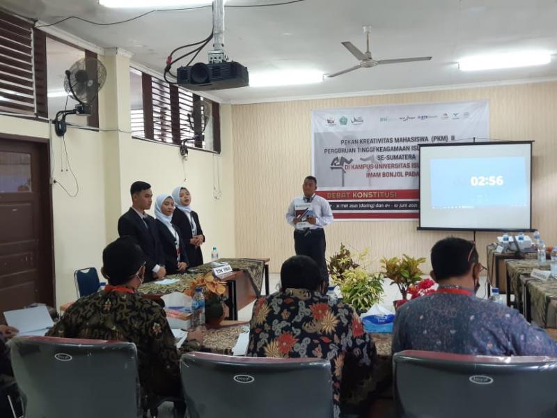Suasana Debat Konstitusi PKM II Se-Sumatera