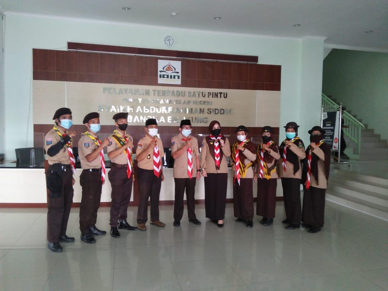 Pramuka IAIN SAS Bangka Belitung Siap Sukseskan Perkemahan Wirakarya Nasional (PWN) PTK KE XV Tahun 2021