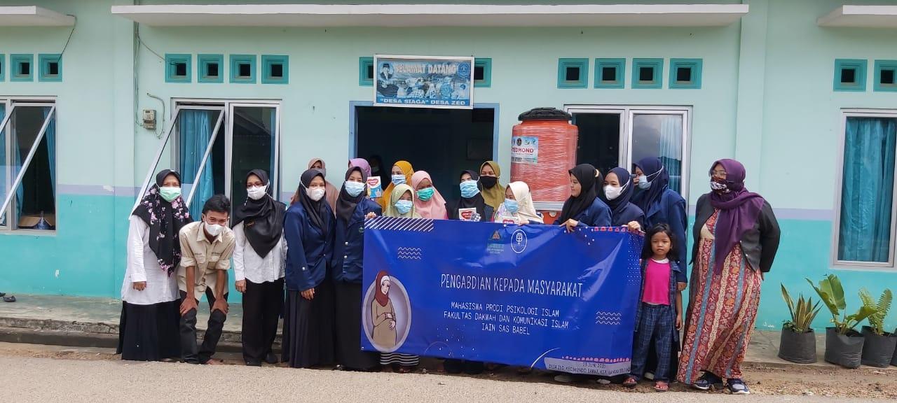 Prodi Psikologi Islam IAIN SAS Babel Melaksanakan Pengabdian Masyarakat di Desa Petaling dan Desa Zed