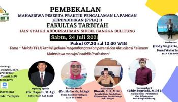 Fakultas Tarbiyah Adakan Pembekalan PPLK II 408 Mahasiswa Secara Daring