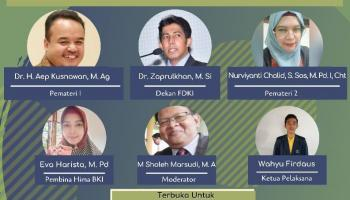 Hima Prodi BKI IAIN SAS Bangka Belitung Gelar Webinar Nasional