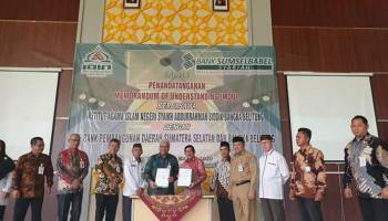 IAIN SAS Bangka Belitung MoU dengan PT. Bank Pembangunan Daerah Sumsel dan Babel