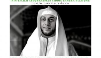 Keluarga Besar IAIN SAS Babel Turut Berduka Cita atas Meninggalnya Syaikh Ali Saleh Mohammed Ali Jaber