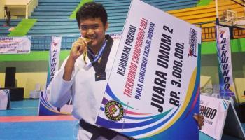 Mahasiswa IAIN SAS Babel Raih Juara I Kejuaraan Taekwondo Piala Gubernur Bangka Belitung