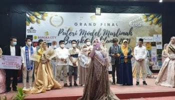 Mahasiswi Prodi Psikologi Islam IAIN SAS Babel Raih Juara I Putri Model Muslimah Bangka Belitung