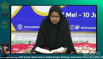 MTQ Putri /Kontingen IAIN SAS Bangka Belitung Milna Fia