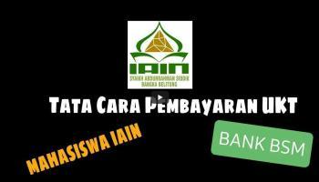 Pembayaran UKT/SPP IAIN SAS Bangka Belitung Semester Genap TA 2020/2021 Diperpanjang