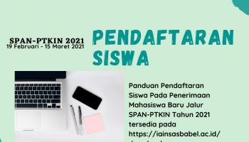 Begini Cara Pendaftaran Siswa Jalur SPAN-PTKIN 2021
