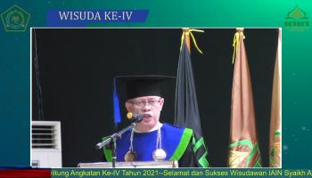 Wisuda IAIN Syaikh Abdurrahman Siddik Bangka Belitung Angkatan Tahun 2021