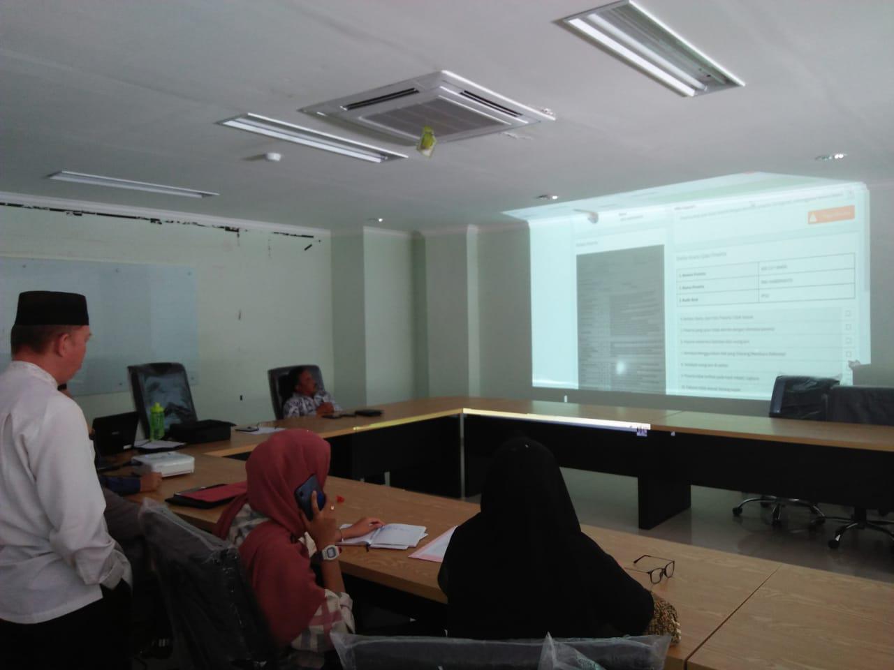 Tim Pengawas Lokal IAIN SAS BABEL Gelar Simulasi SSE UM-PTKIN
