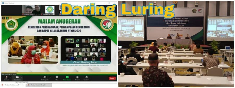 Wakil Rektor I Hadiri Penyerahan Rekor MURI dan Rapat Kelulusan UM-PTKIN 2020 - 2